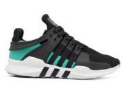 Adidas EQT Running Support 93 черные с зеленым - фото справа