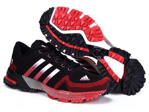 Adidas Marathon TR21 черные с красным (39-44)