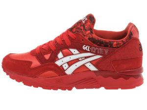 Кроссовки Asics Gel Lyte 5 красные с белым мужские - фото слева