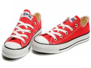 Кеды Converse Chuck Taylor All Star красные подростковые и женские - фото спереди