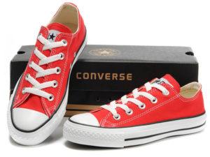 Кеды Converse Chuck Taylor All Star красные подростковые и женские - общее фото