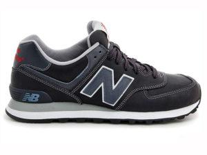 Кроссовки New Balance 574 мужские черные с темно-синим - фото справа