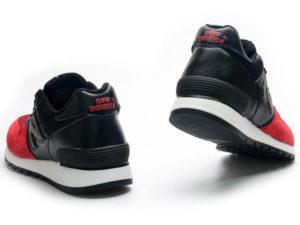 Кроссовки New Balance 670 мужские красно-черные - фото сзади