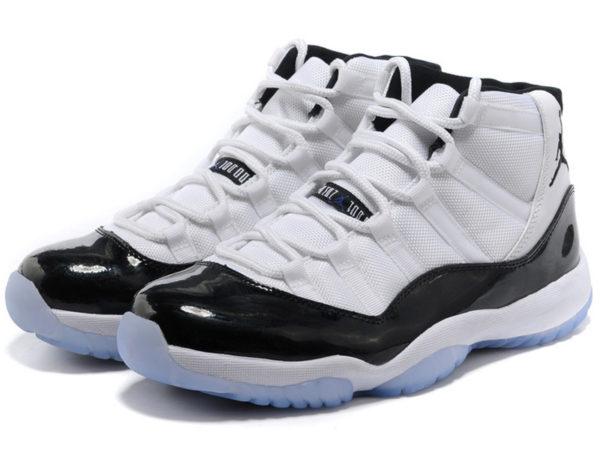 Кроссовки Nike Air Jordan 11 Retro мужские белые с черным