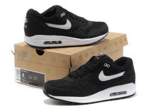 Кроссовки Nike Air Max 87 мужские черные с белым - общее фото