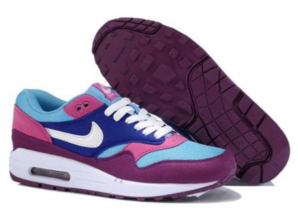 Nike Air Max 87 малиновые с голубым (35-40)