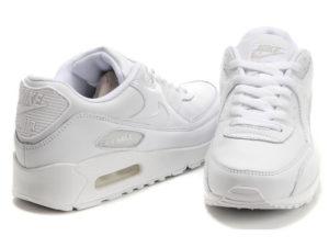 Кроссовки Nike Air Max 90 белые - фото спереди и сзади