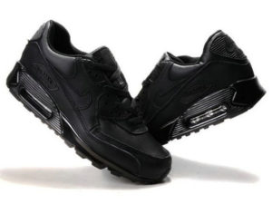 Кроссовки Nike Air Max 90 черные - фото справа и слева