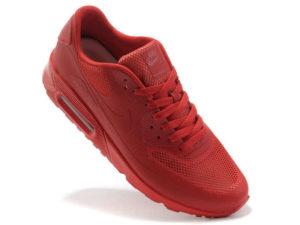 Кроссовки Nike Air Max 90 Hyperfuse мужские красные - фото справа