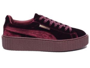 Кроссовки Puma by Rihanna Creeper женские бордовые - фото справа