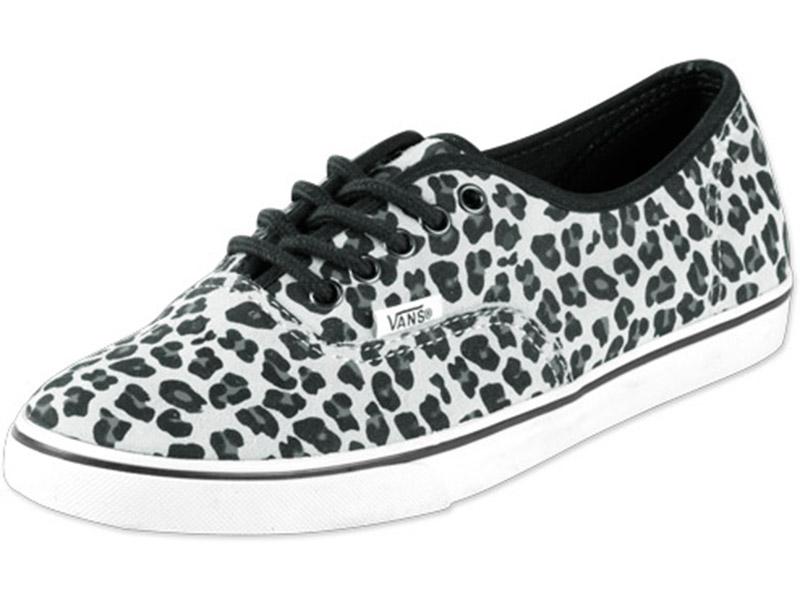 Кеды Vans Authentic женские леопардовые светло-серые
