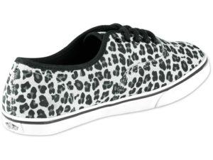 Кеды Vans Authentic женские леопардовые светло-серые - фото сзади
