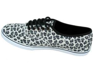 Кеды Vans Authentic женские леопардовые светло-серые - фото слева