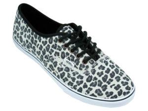 Кеды Vans Authentic женские леопардовые светло-серые - фото сверху
