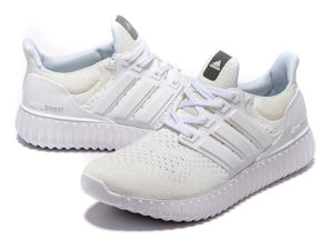 Кроссовки Adidas Ultra Boost мужские белые - фото спереди