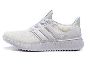 Кроссовки Adidas Ultra Boost мужские белые - фото слева
