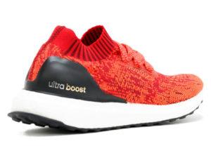 Кроссовки Adidas Ultra Boost мужские красные с черным - фото сзади