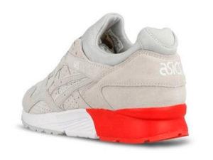 Кроссовки Asics Gel Lyte 5 серые с красным мужские - фото сзади