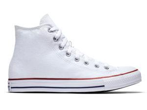 Высокие кеды Converse Chuck Taylor All Star белые - фото справа