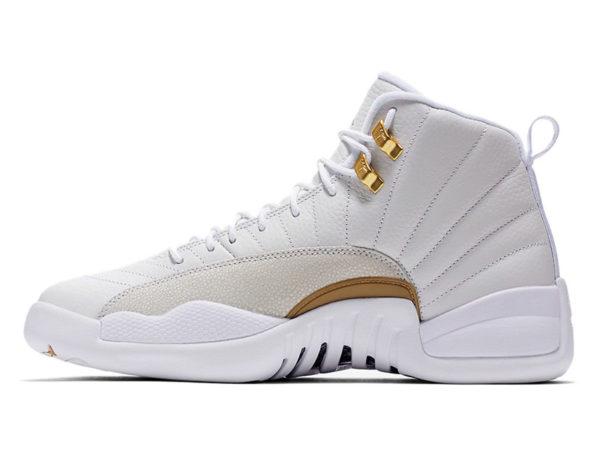 Кроссовки Nike Air Jordan 12 Retro белые мужские
