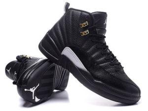 Кроссовки Nike Air Jordan 12 Retro черные мужские - общее фото