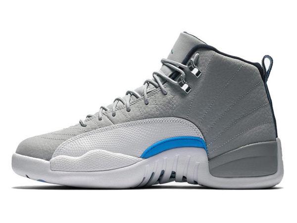 Кроссовки Nike Air Jordan 12 Retro серые с белым мужские