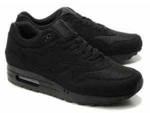 Кроссовки Nike Air Max 87 черные мужские - фото спереди