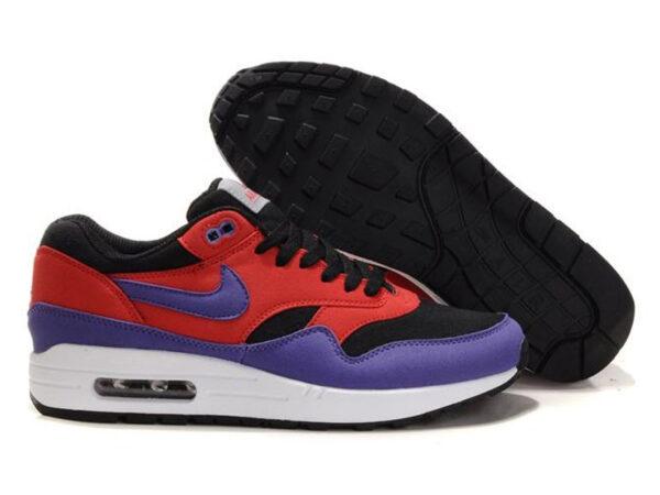 Nike Air Max 87 красно-фиолетовые с черным (35-40)