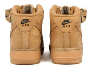 Кроссовки Nike Air Force 1 Mid 07 песочные мужские - фото сзади