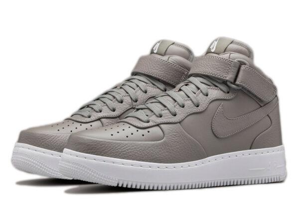 Nike Air Force 1 Mid серые (35-46)