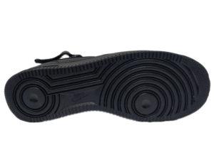 Зимние Nike Air Force 1 Low Leather Fur черные мужские и женские - фото подошвы