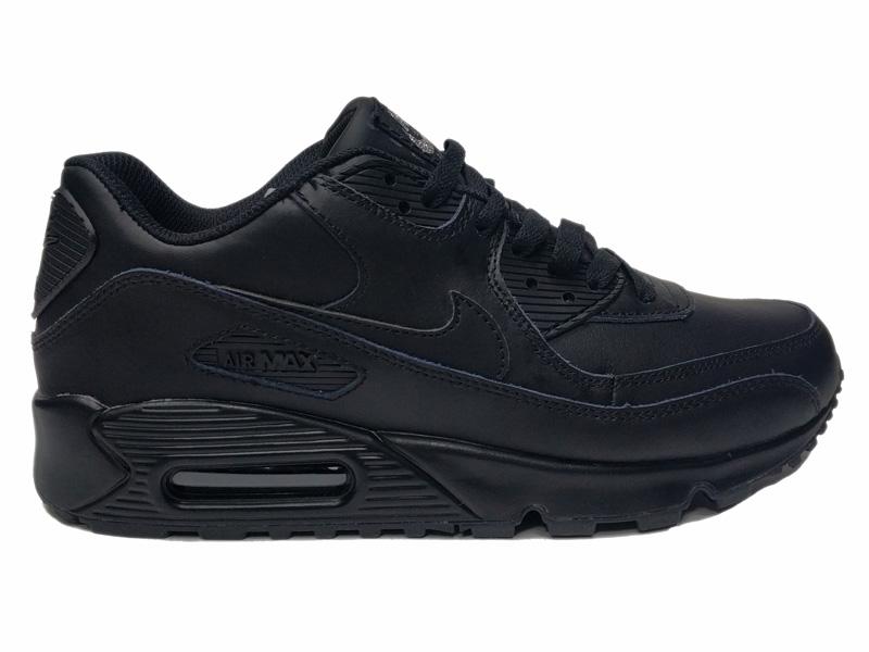 Зимние Nike Air Max 90 VT Low Leather Fur черные