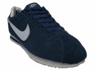 Зимние Nike Cortez темно-синие - фото спереди