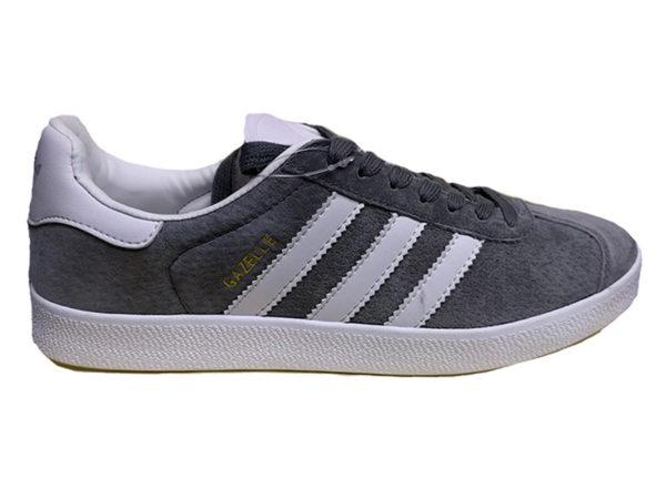 Adidas Gazelle Suede серые с белым