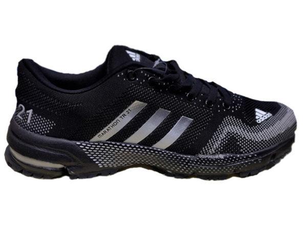 Adidas Marathon TR21 черные с белым (35-45)