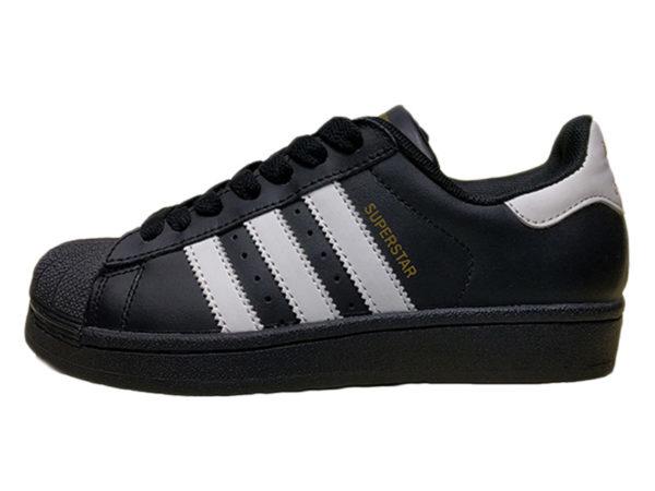 Adidas Superstar Leather черные с белым