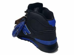 Зимние New Balance 1300 Mid черные с синим - фото сзади
