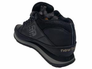 Зимние New Balance 754 Leather черные - фото сзади