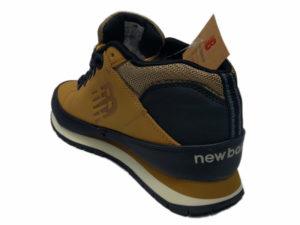 Зимние New Balance 754 Leather песочные с коричневым - фото сзади