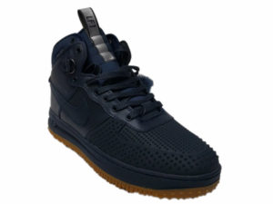 Зимние Nike Lunar Force 1 Leather темно-синие - фото спереди