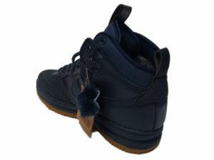 Зимние Nike Lunar Force 1 Leather темно-синие - фото сзади