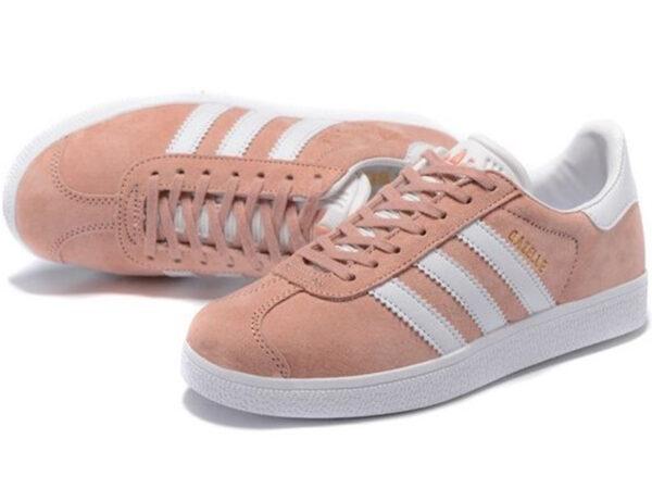 Adidas Gazelle розовые с белым