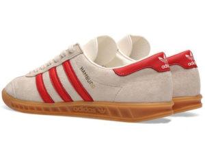 Adidas Hamburg белые с красным