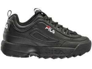 Fila Disruptor 2 All Black кожаные