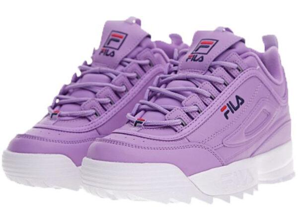 Фиолетовые кроссовки Fila