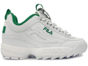 Fila Disruptor 2 белые с зеленым