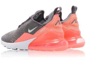 Nike Air Max 270 серые с розовым