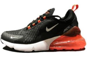Nike Air Max 270 черно-белые с оранжевым