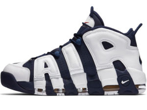 Nike Air More Uptempo синие с белым
