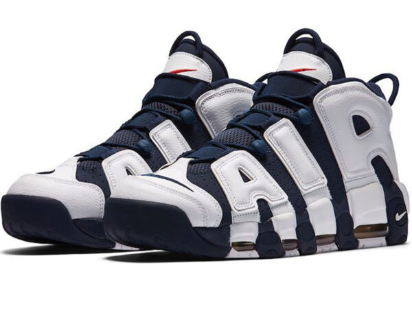 Nike Air More Uptempo синие с белым (40-46)